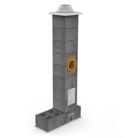 System kominowy KRUK UNIVERSAL 6M - z wentylacją - trójnik 45°